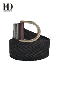 Men's Fabric Belt With D-ring Buckle