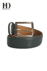 Designer Grey leather belts for men