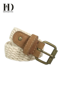 Mens Fabric Belt with Buckle