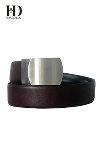 Men's High Quality Genuine Leather Dress Belt / Black & Brown Colors