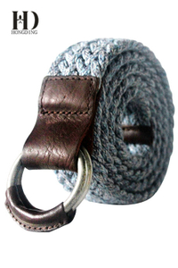 Mens Fabric Belt with Buckel