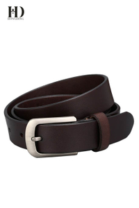 Men's Leather Belt Dark Brown