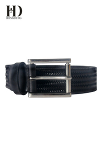 Men's braided leather belts