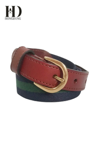Mens Elastic Fabric Belt With Gun Buckle