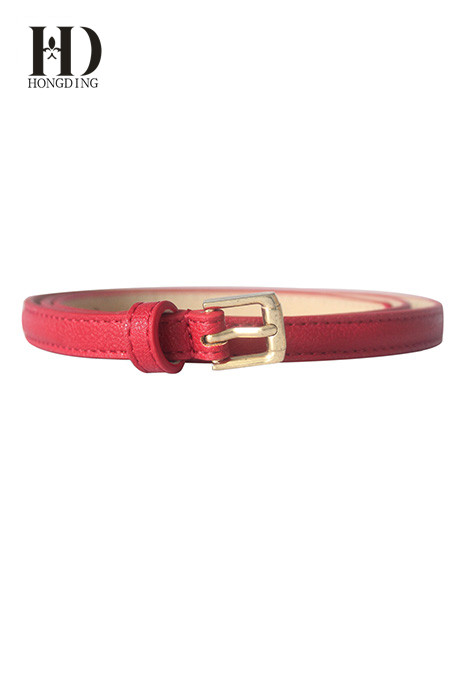 Fashion red waist PU belt for women