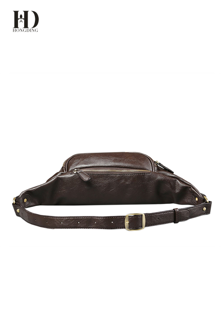 HongDing High-Quality PU Leather Men's Waist Bags with Large Capacity