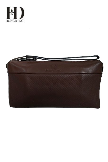 Mens leather clucth Bag Comes With Zipper strap