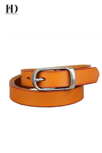 HongDing Claybank Genuine Cowhide Leather Belts with Retro Alloy Buckle for Men and Women