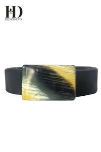 Black vegan leather belts for men