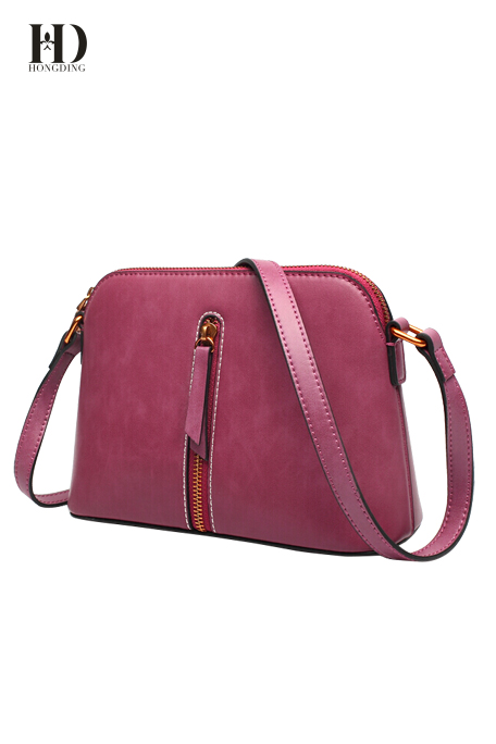 HongDing Multi-Color Genuine Leather Shoulder Bags for Women with Adjustable Shoulder Strap