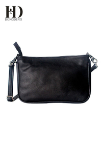 Black leather Fashion handbag