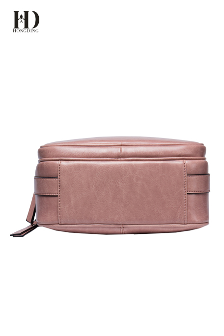 HD Pink Genuine Leather Handbags with Adjustable Shoulder Strap and Exquisite Hardware for Women