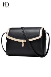 HongDing Blue or Black Genuine Cowhide Leather Shoulder Bags for Women