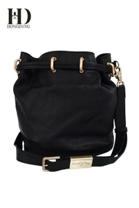 Women PU Washed Leather Convertible Ladies Shoulder Bag Black