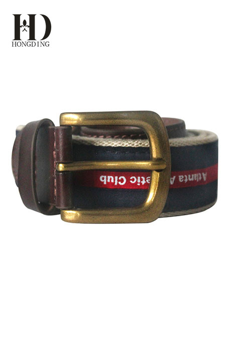 Mens Black Webbing Belt