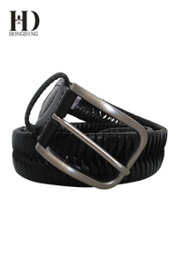 Men's Braided Belt Black