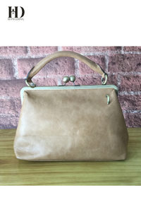 HongDing Brown PU Leather Women Handbag