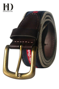 Navy Mens Webbing Belts with pin-buckle